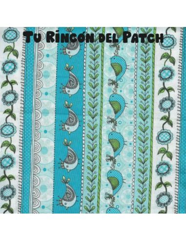 Fancy Stripe:Cenefas de pájaros y flores