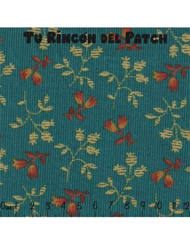 florecitas marrones sobre morado