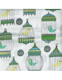 Le Cage au Birdie: jaulas en flor (azul)