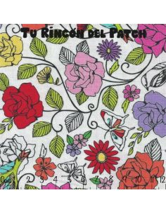 Fling Flung Floral: Pajaritos y flores