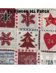 Noel: Calendario Adviento Rojo