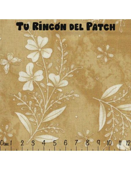 In Stitches: Crema Flor grande