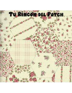 Patch: Rosa. Hexágonos