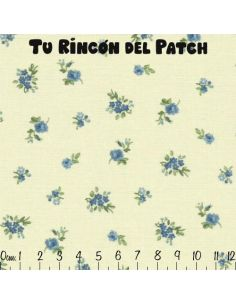 Patch: Azul. Florecitas