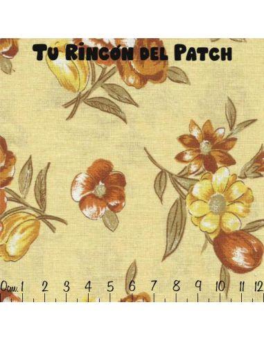 Automne: Flores sobre amarillo