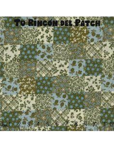 Patchwork: Azul verdoso