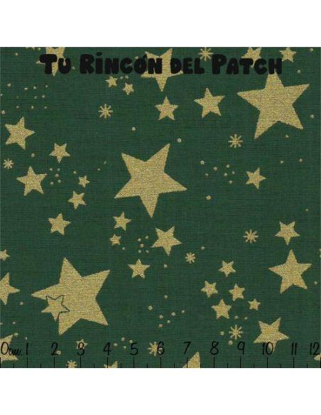 Noel: Estrellas grandes sobre verde