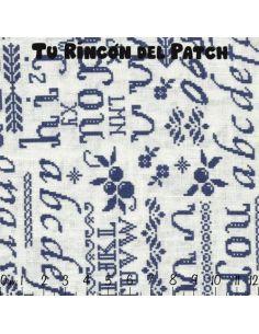 Mar de Lino: Azul caligrafía
