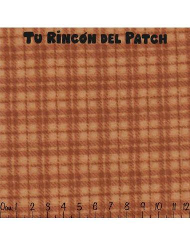 Flannel: Cuadros, marrón anaranjado