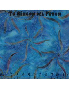 Batiks: (43) estampado sobre azul