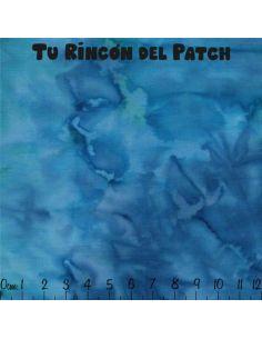 Batiks: (42) floral azul
