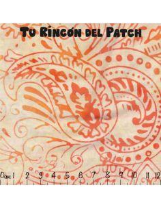 Batiks: (20) estampados naranjas