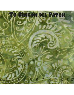 Batiks: (18) estampados en verde