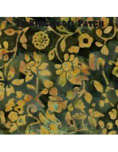 Batiks: (14) estampado de ramitas sobre verde