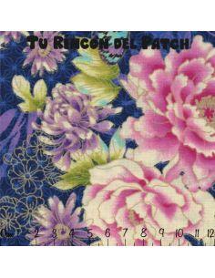 Flights of Fancy: flores y mariposas azul
