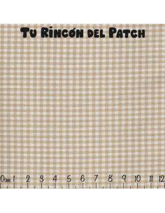 Vichy: beige cuadrados pequeños