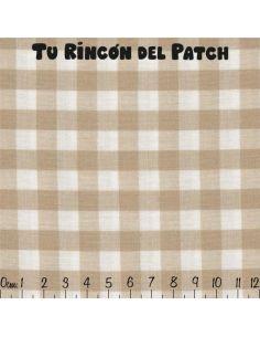 Vichy: beige cuadrados grandes