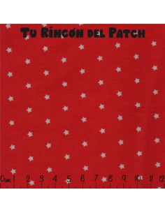 Patch-stars: rojo