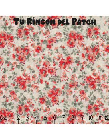Marjorie: Flores sobre fondo blanco