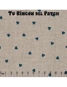 Mar de Lino: Kote azul corazones