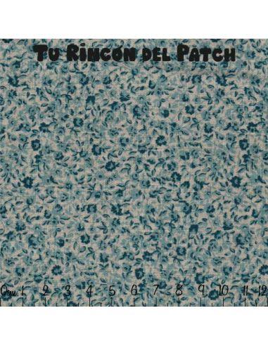 Mar de Lino: Kote azul florecitas