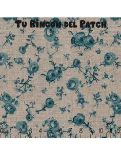Mar de Lino: Kote azul flores