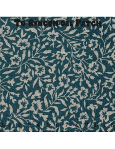 Mar de Lino: Kote azul ramitas y flores