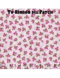 Florecitas pequeñas: florecitas lilas sobre fondo lila
