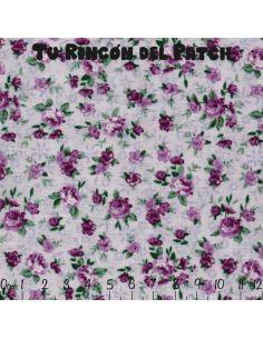 Florecitas pequeñas: florecitas lila sobre fondo lila