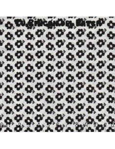 Black and White: flores negras sobre blanco
