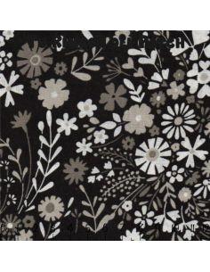 Black and White: flores sobre negro