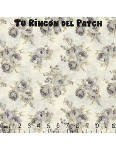 Racimo: flores grises sobre blanco