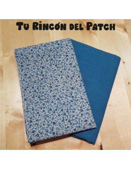 Lino: Kote Azul florecitas + Azul