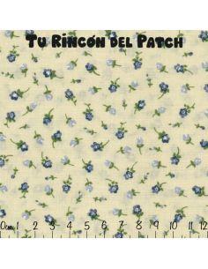 Patch: Azul. Flor aislada