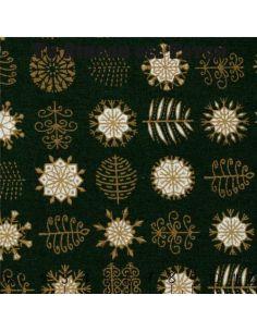 Noel: motivos navideños sobre verde