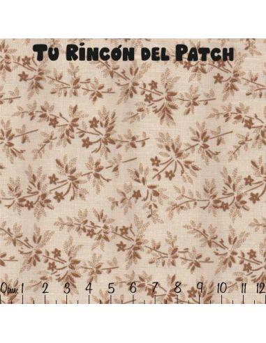 Larisa: ramas marrones sobre blanco (50073)