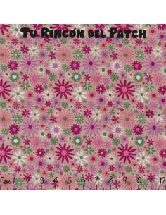 florecitas en rosado