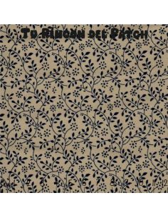 bicolor: ramitas azules sobre beige