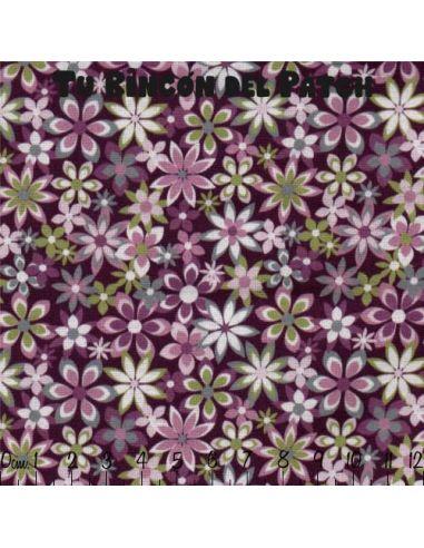 Country: Flores sobre morado