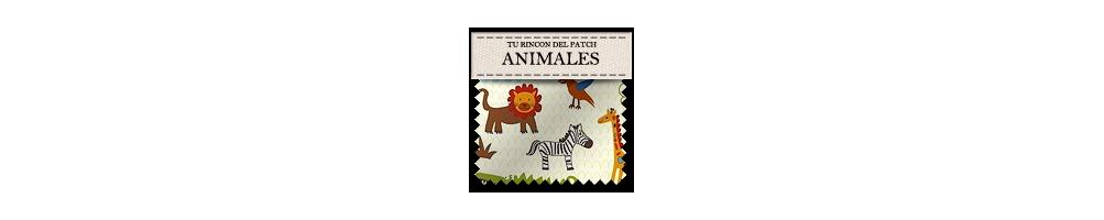 Telas baratas de patchwork de animales. turincondelpatch.com