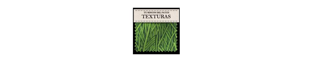 Telas baratas de patchwork con estampados de texturas. turincondelpatch.com