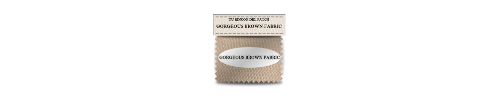 Telas baratas de patchwork de Gorgeous Brown Fabric. turincondelpatch.com