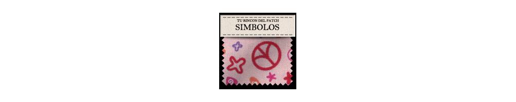 Telas baratas de patchwork con símbolos. turincondelpatch.com