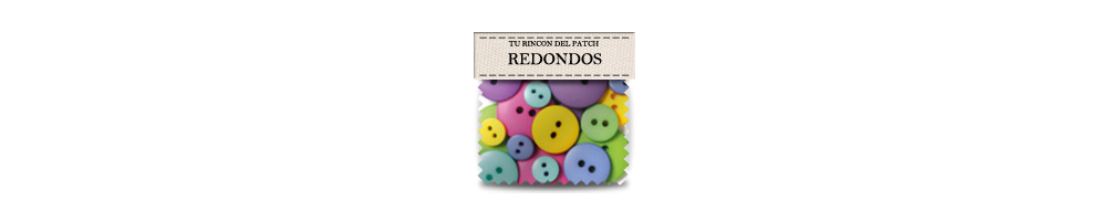 Round patchwork buttons