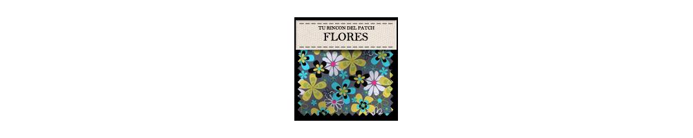 Telas económicas de patchwork con dibujos de flores. turincondelpatch.com