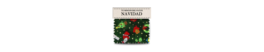 Telas baratas de patchwork con motivos de Navidad. turincondelpatch.com