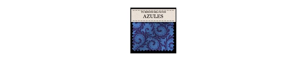 Telas económicas de patchwork azules. turincondelpatch.com