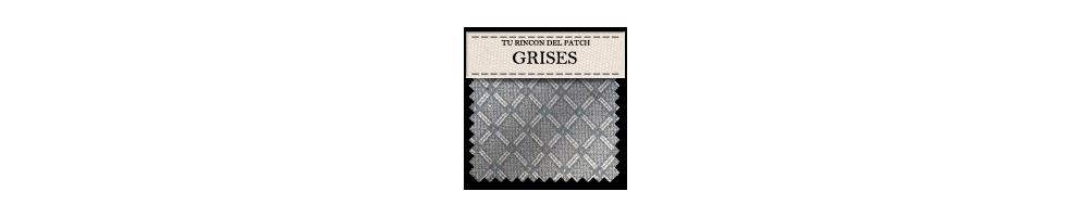 Telas de patchwork económicas grises. turincondelpatch.com