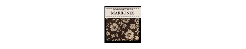 Telas de patchwork baratas de colores marrones. turincondelpatch.com
