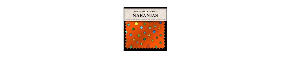 Telas baratas de patchwork en colores naranjas. turincondelpatch.com